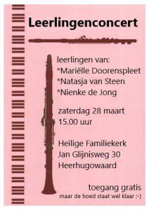 Leerlingenconcert @ Heilige Familiekerk, Jan Glijnisweg 30 Heerhugowaard